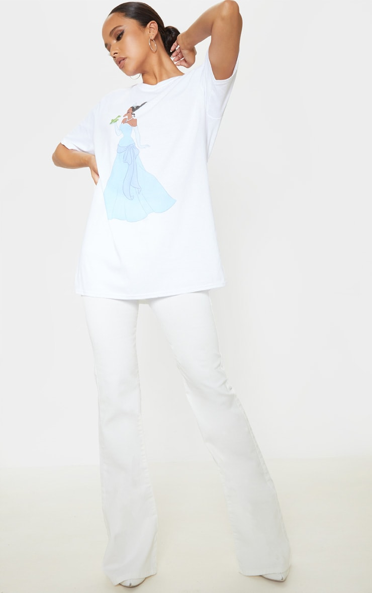 White Disney Princess & The Frog Oversized T Shirt 4
