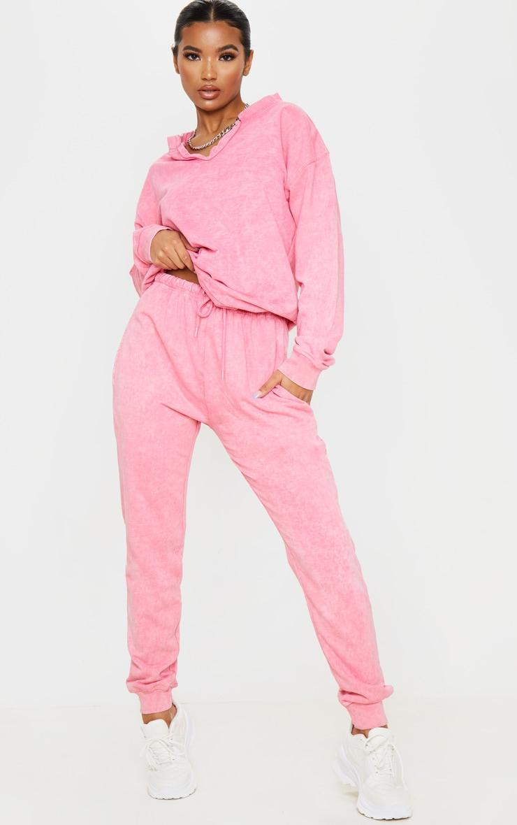 Light Pink High Waisted Skinny Jogger 1