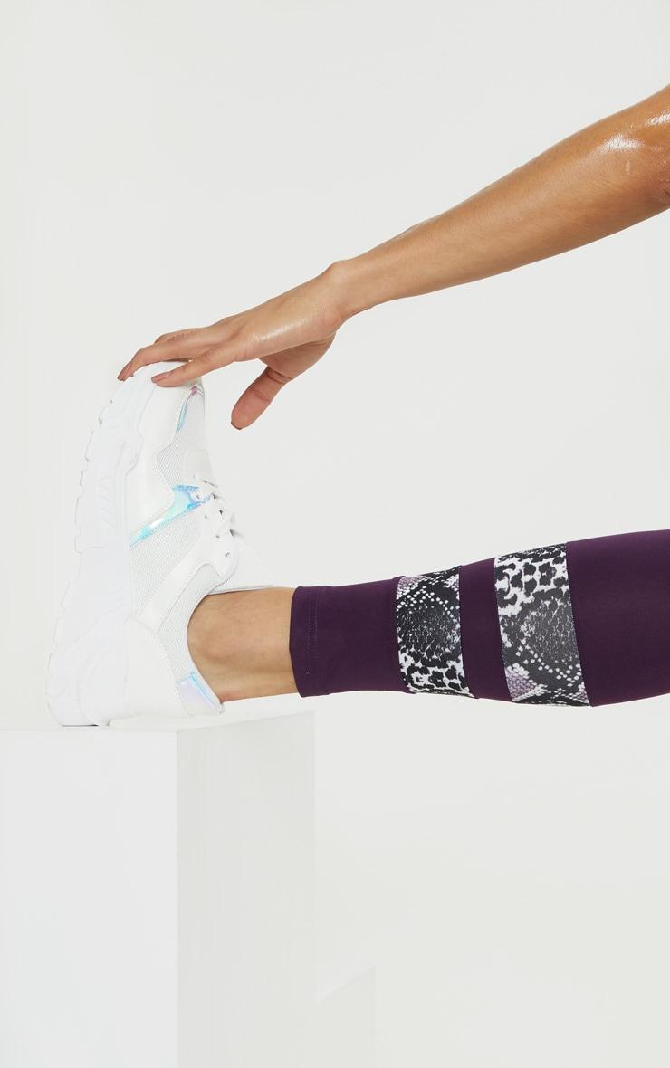 Aubergine Contrast Leggings 5