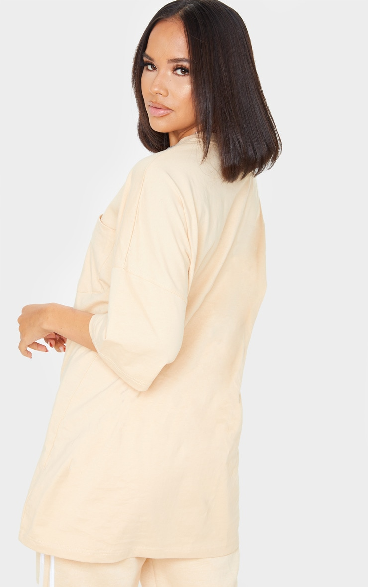 Sand Pocket Front Oversized T Shirt 2
