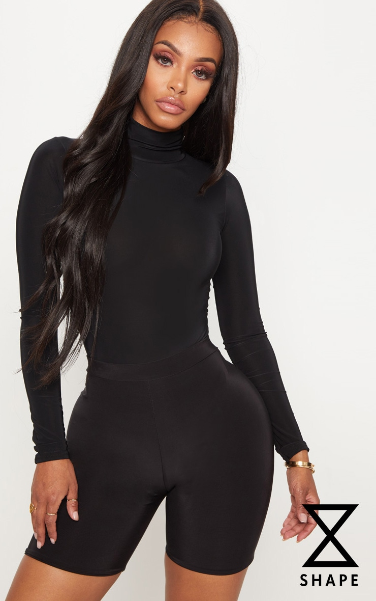 Shape Black Slinky High Neck Bodysuit 1
