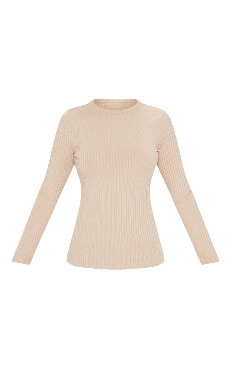 Stone Rib Crew Neck Long Sleeve Top 3