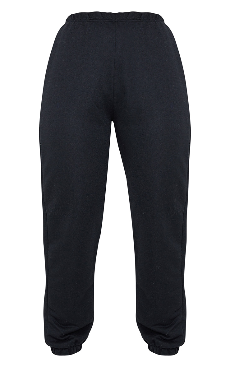 Black Basic Cuffed Hem Jogger 5