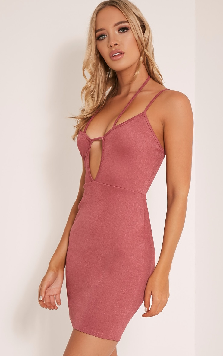 Aimee Rose Strap Detail Plunge Bodycon Dress 4