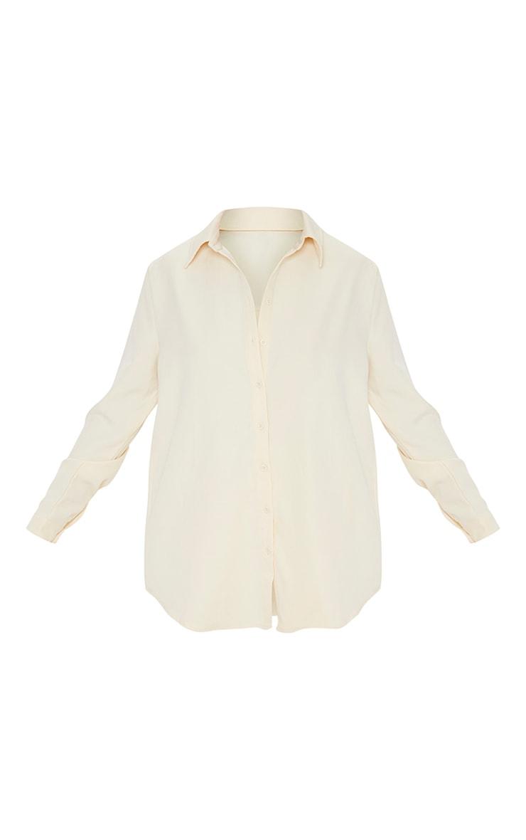 Cream Oversized Shirt 5