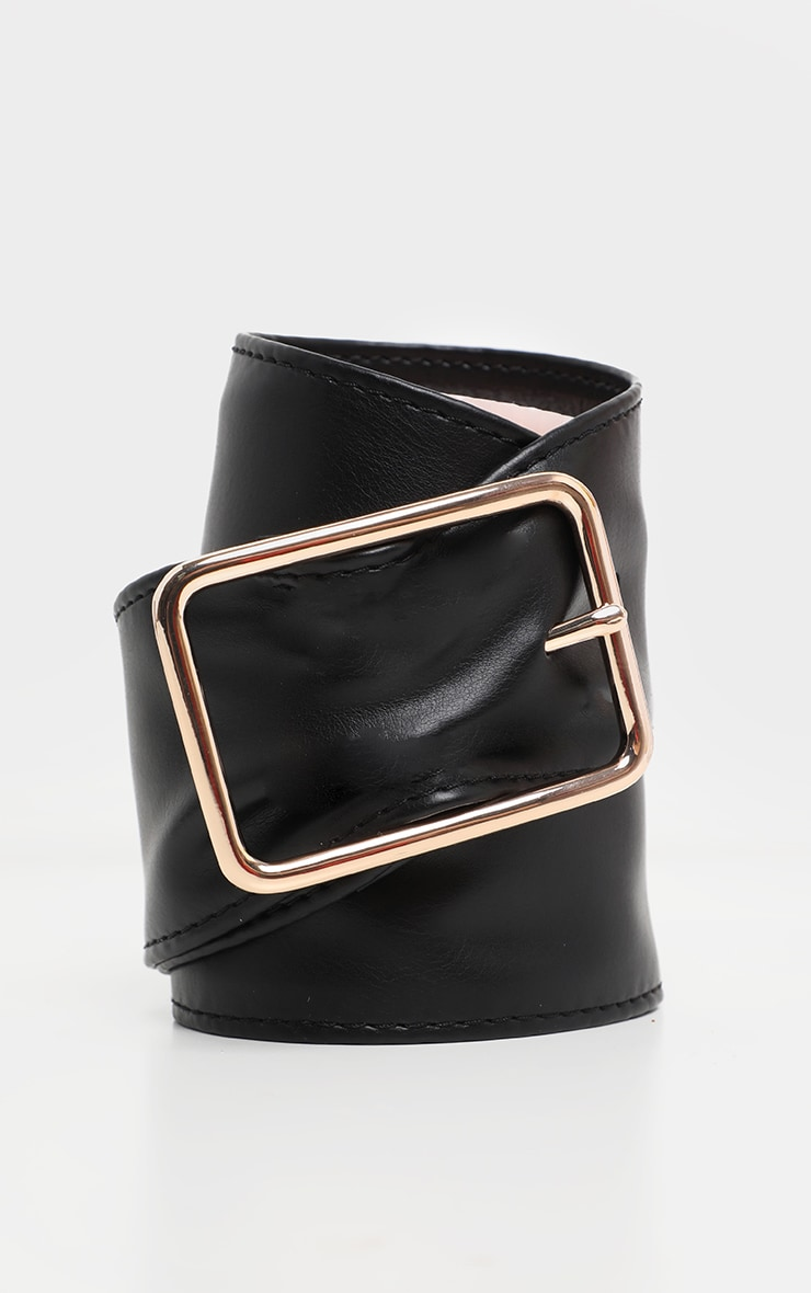 Black PU Wide Soft Belt 1