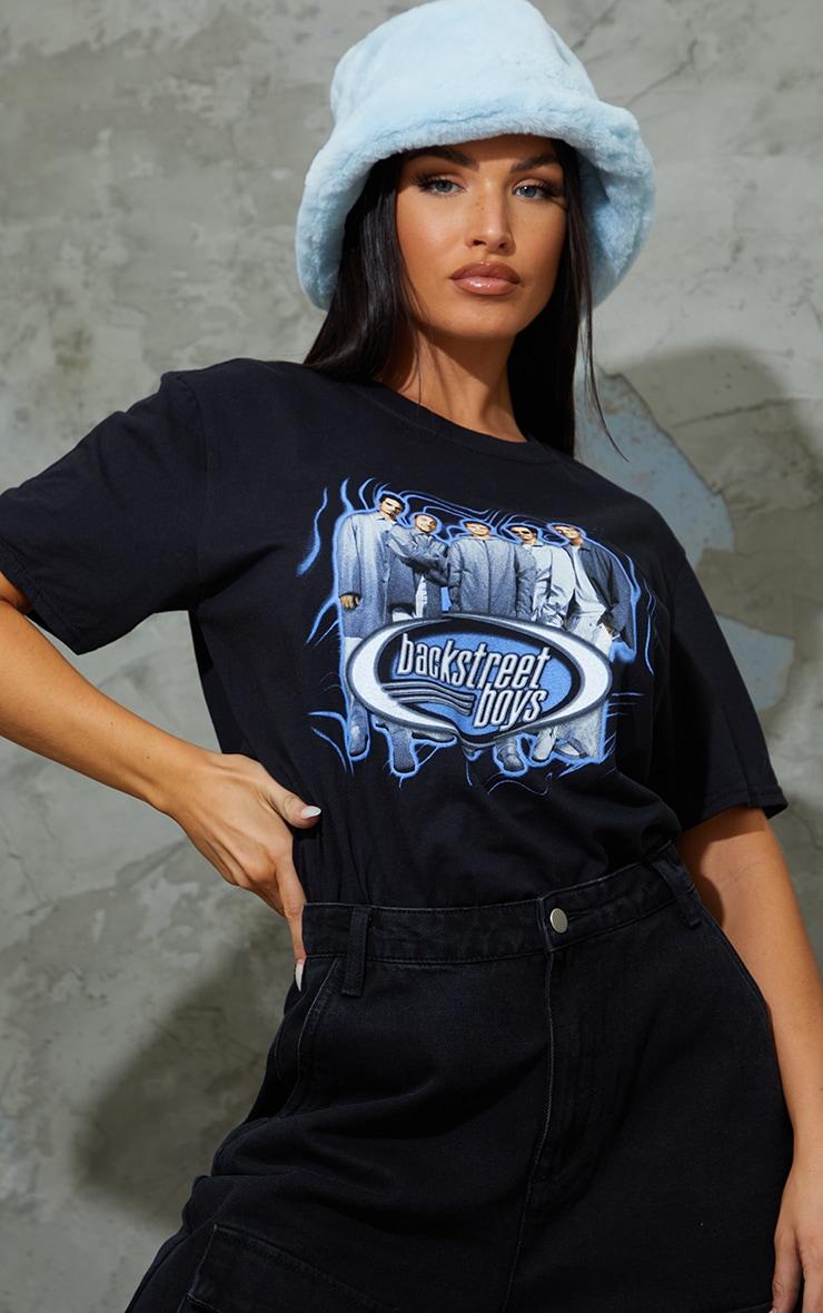 Black Backstreet Boys Printed T Shirt 1