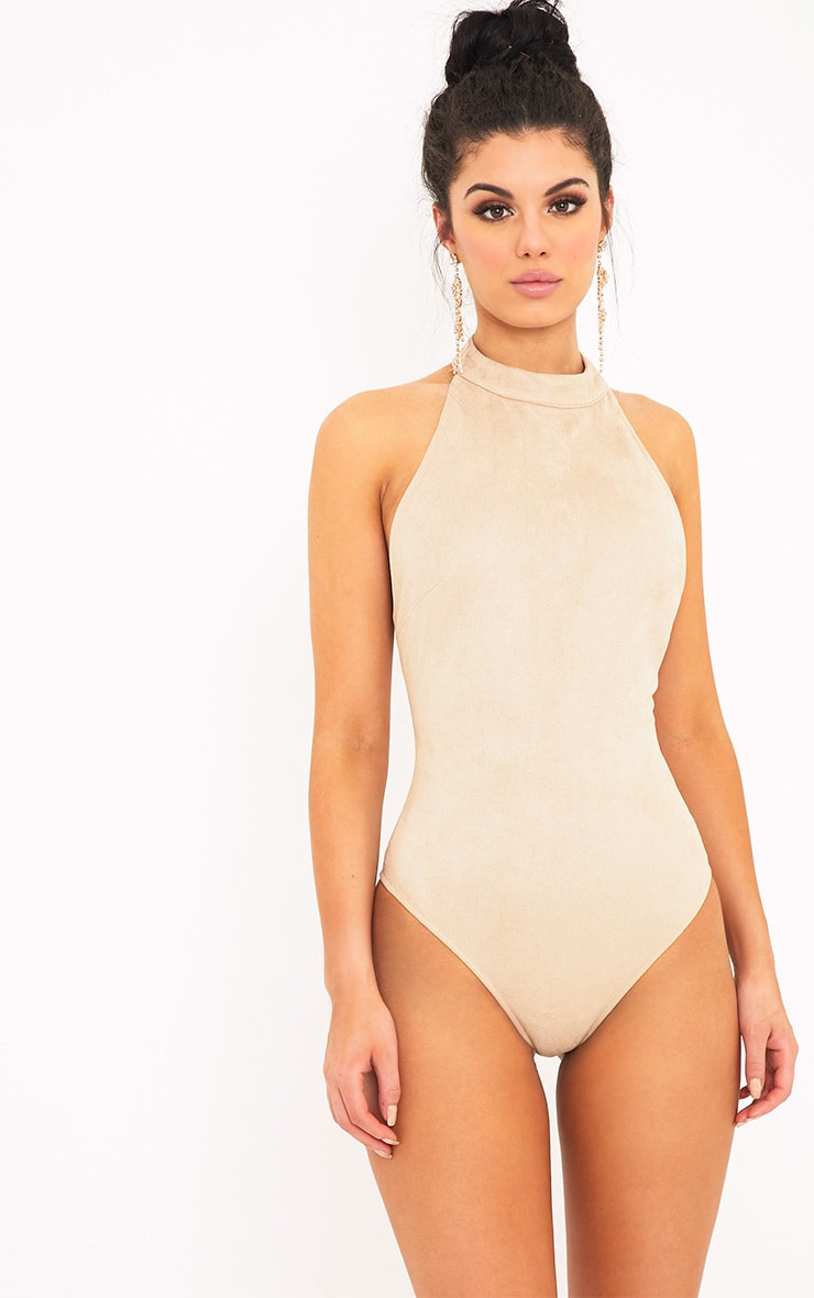 Leigh body-string dos nu en imitation daim vison  1