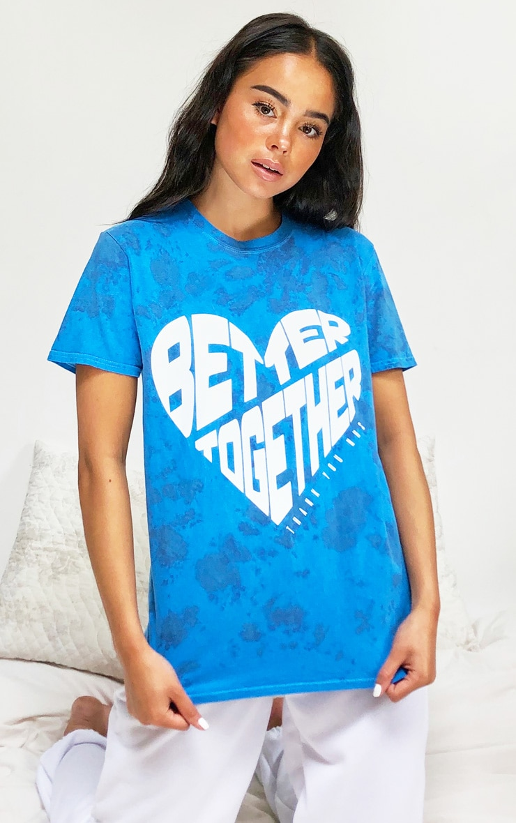 Blue NHS Tie Dye Better Together T Shirt 1