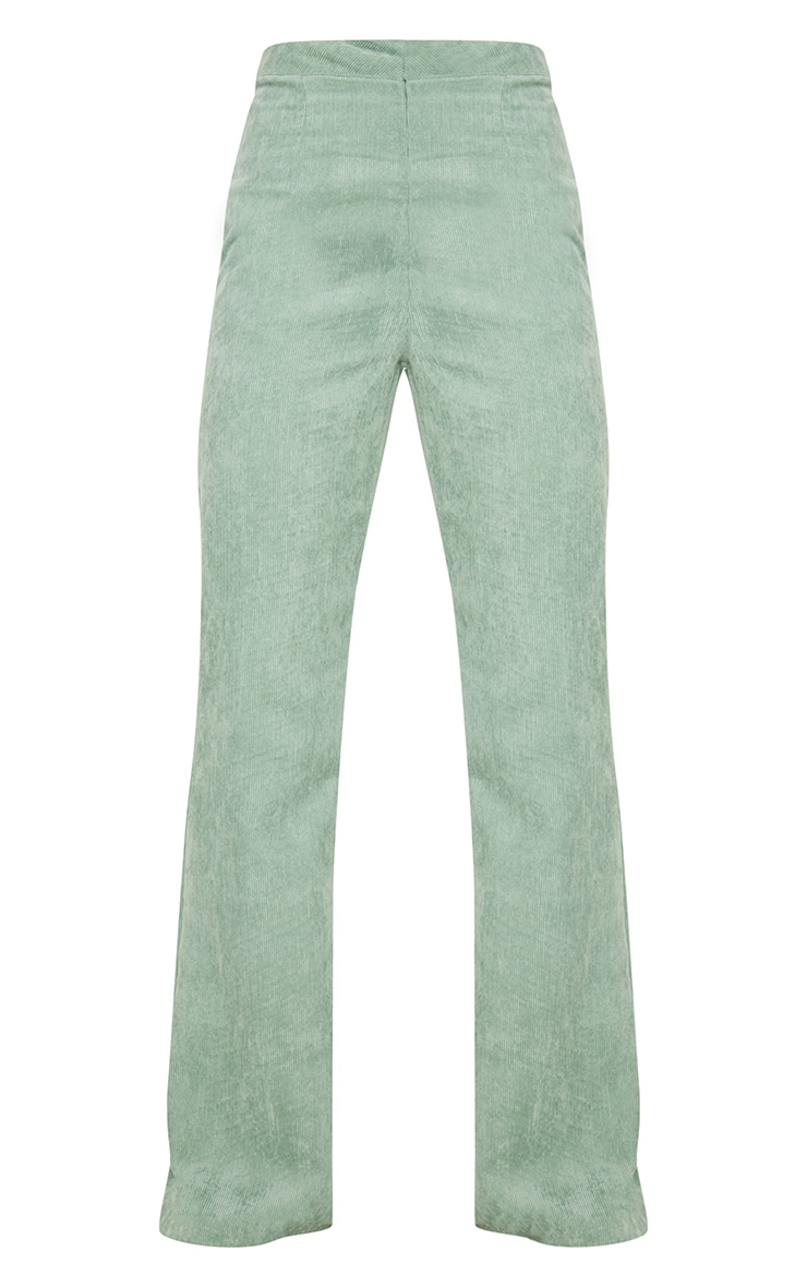 Sage Green Cord Flare Trouser 3