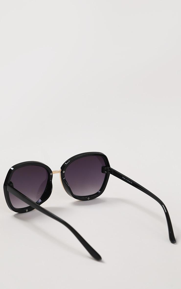 Black Fade Oversized Round Sunglasses 4
