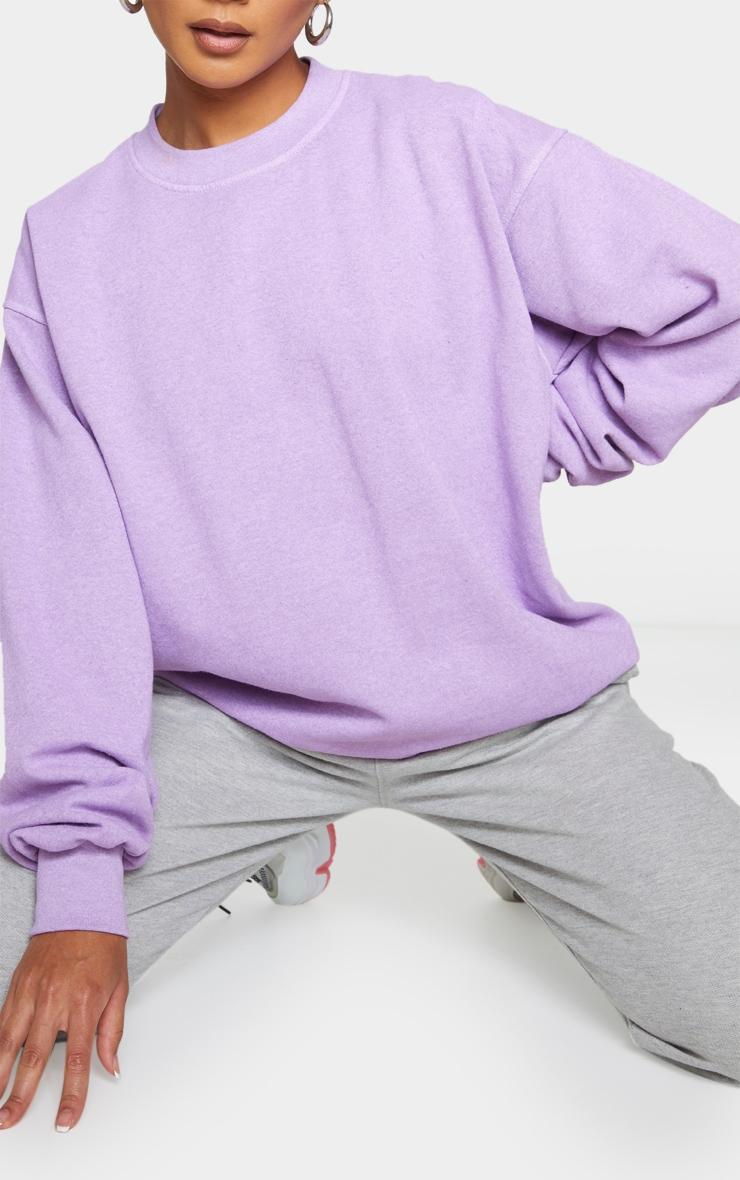 Purple Washed Sweatshirt 3