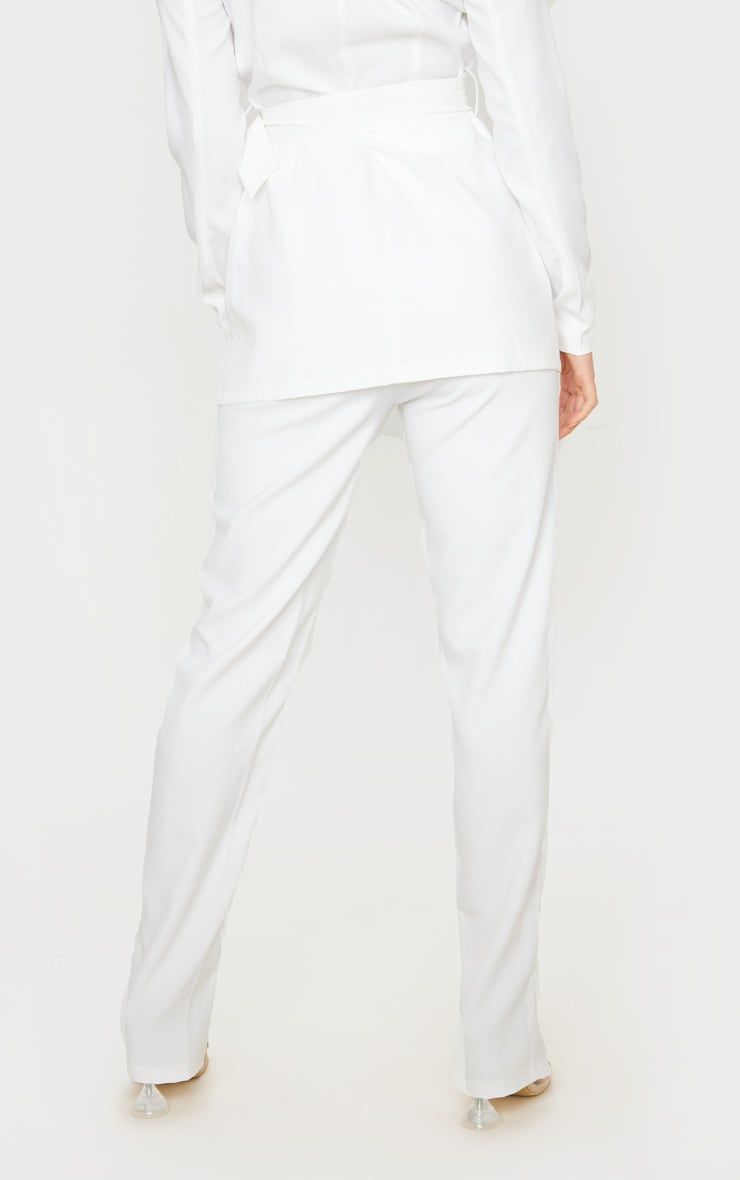 Petite Cream Split Hem Woven Suit Pants 5