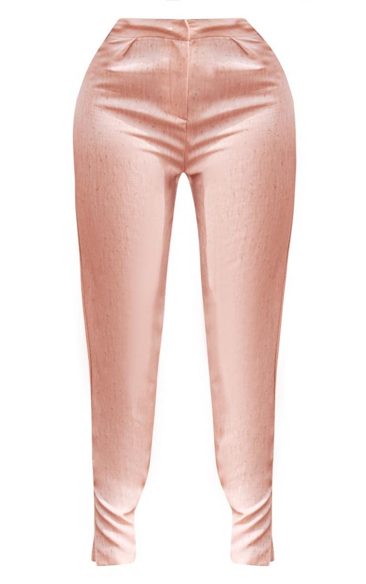 Plus Nude Split Hem Tapered Trousers 5