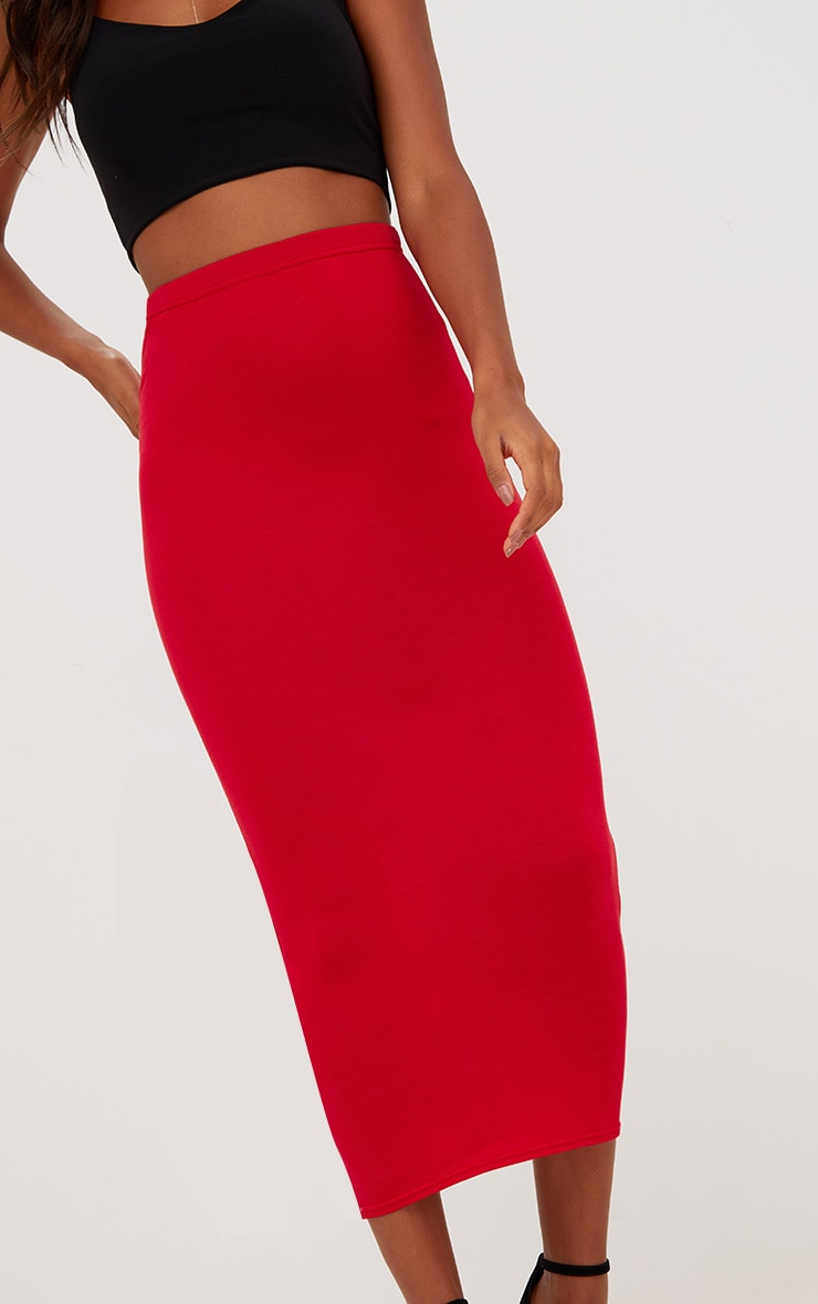 Red/Navy 2 Pack Jersey Midaxi Skirt 9