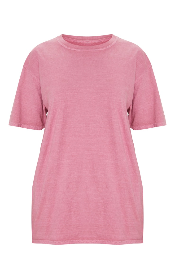 Dusty Pink Washed T Shirt 5