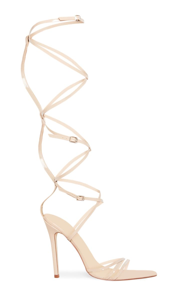 Nude Extreme Gladiator Point Heels 3