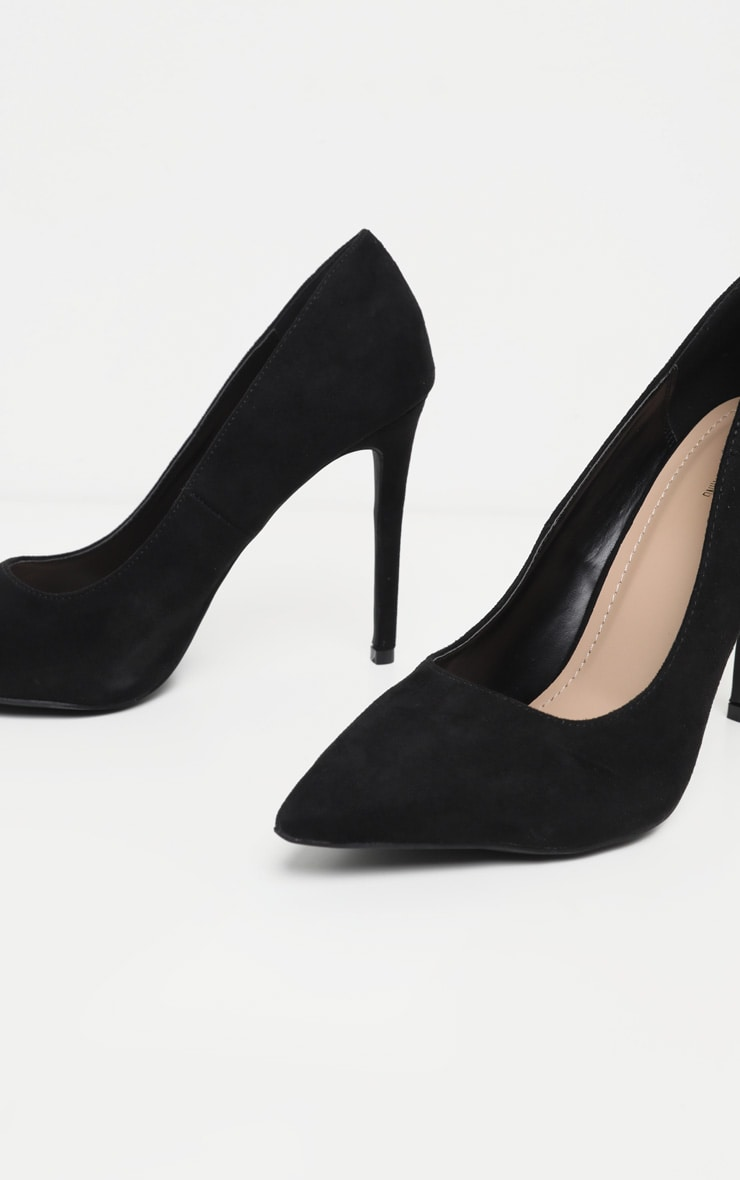Black Heeled Court Shoes 4