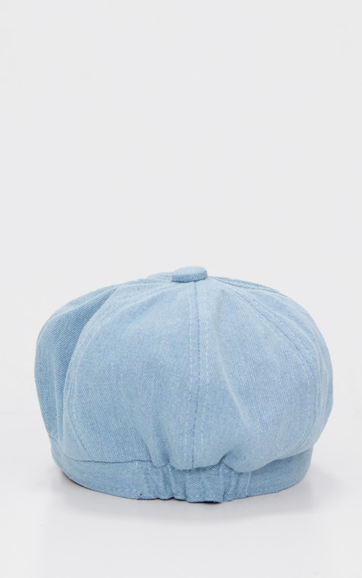 Blue Denim Baker Boy Hat 4
