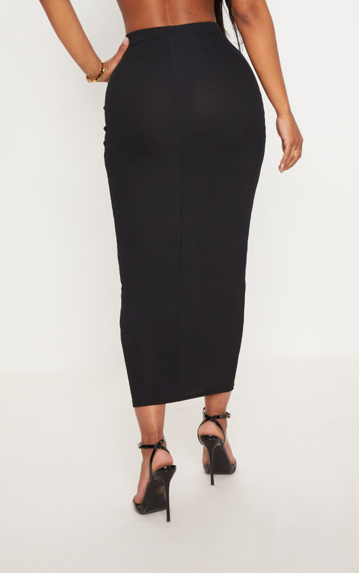 Shape Black Longline Midi Skirt 4