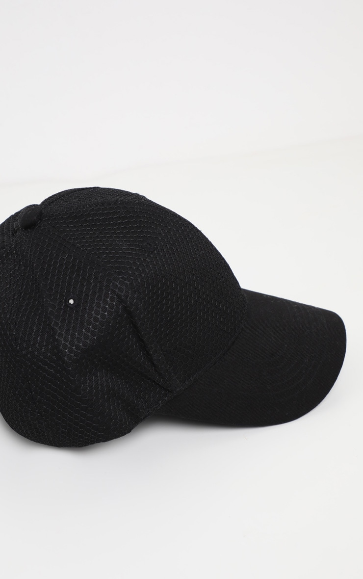 42e11d53a43 Black Neoprene Baseball Cap image 3