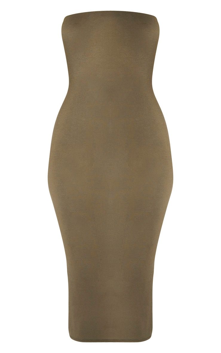 Khaki Bandeau Midaxi Dress 3