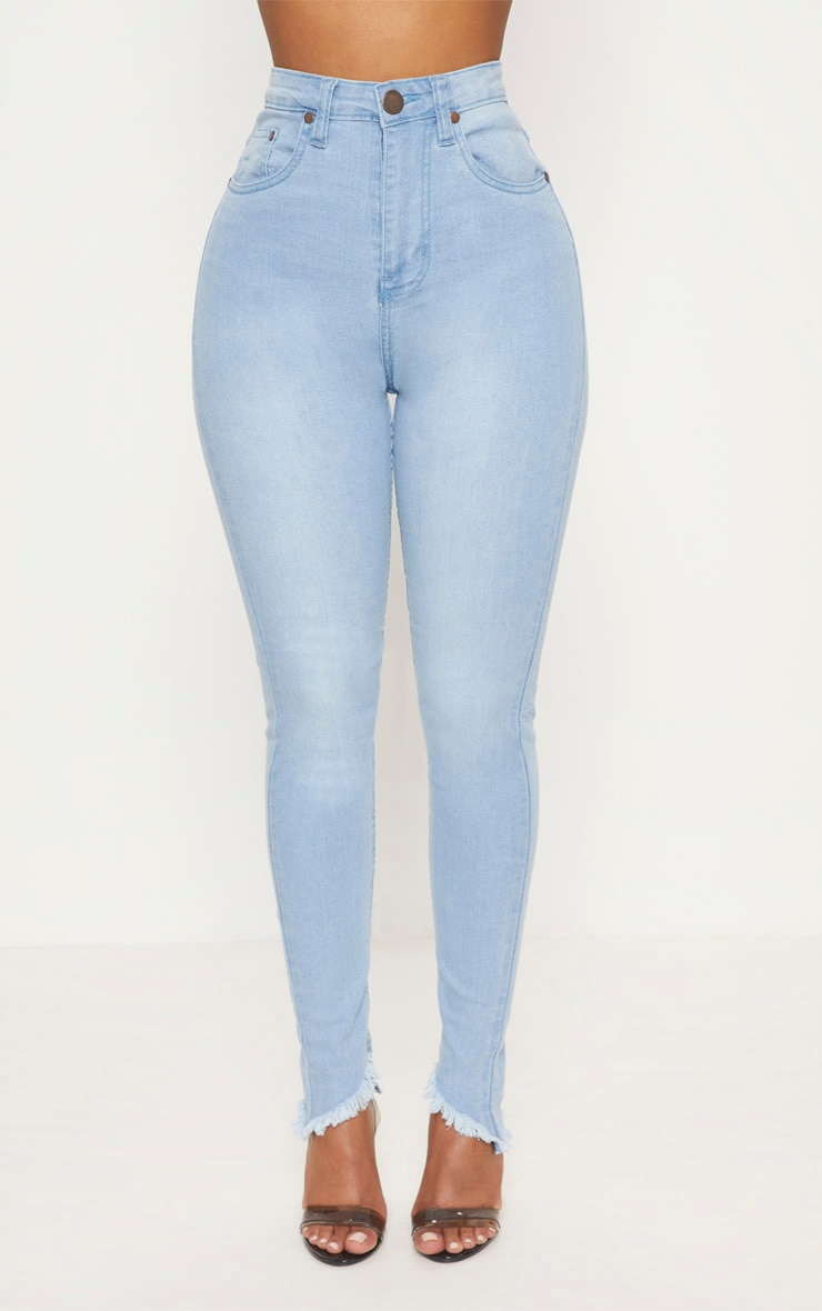 Shape Light Wash High Waist Skinny Jeans 2