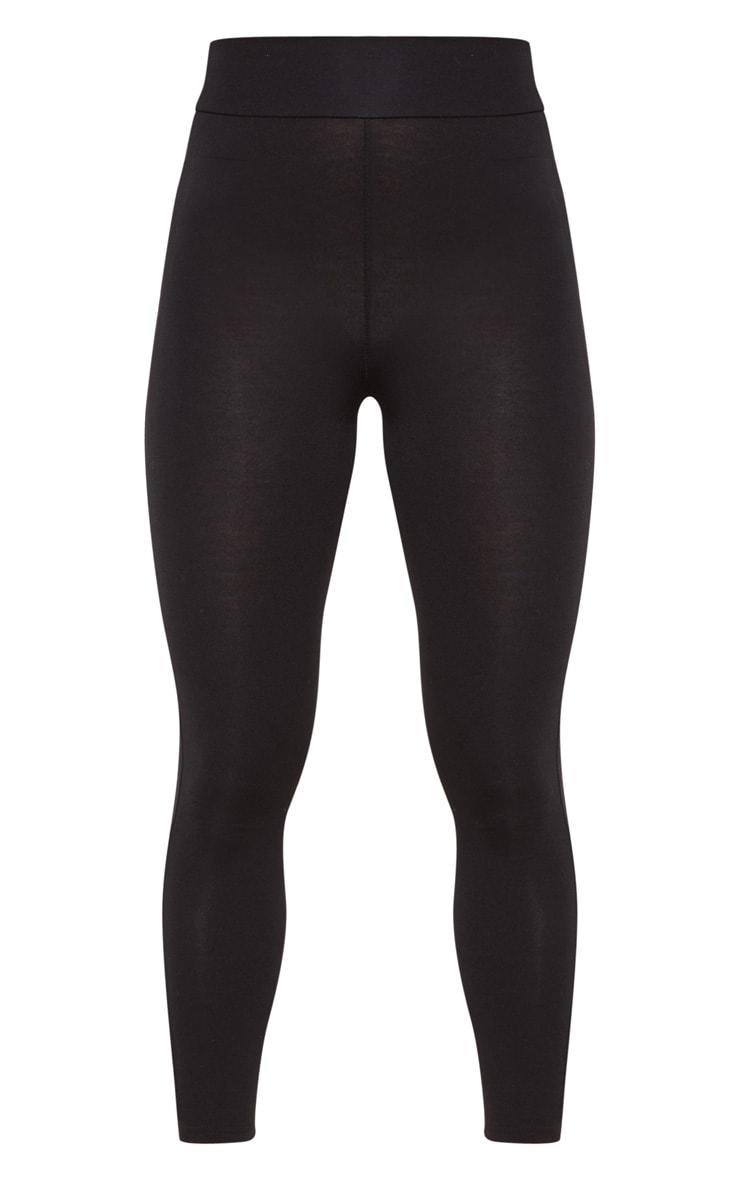 Petite Black High Waisted Jersey Leggings  3