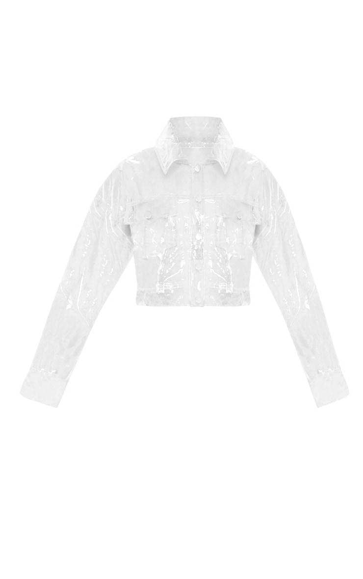 Petite Transparent Crop Jacket 3