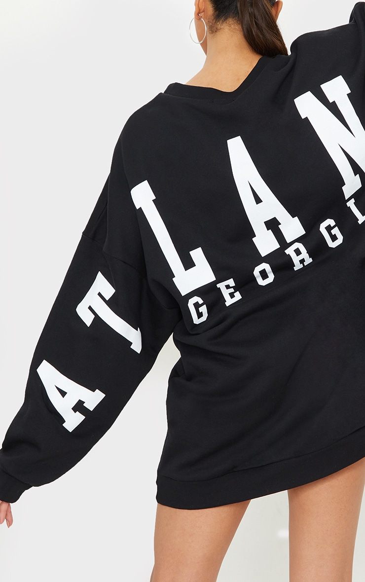 Tall Black Atlanta Georgia Slogan Sweater Dress 4