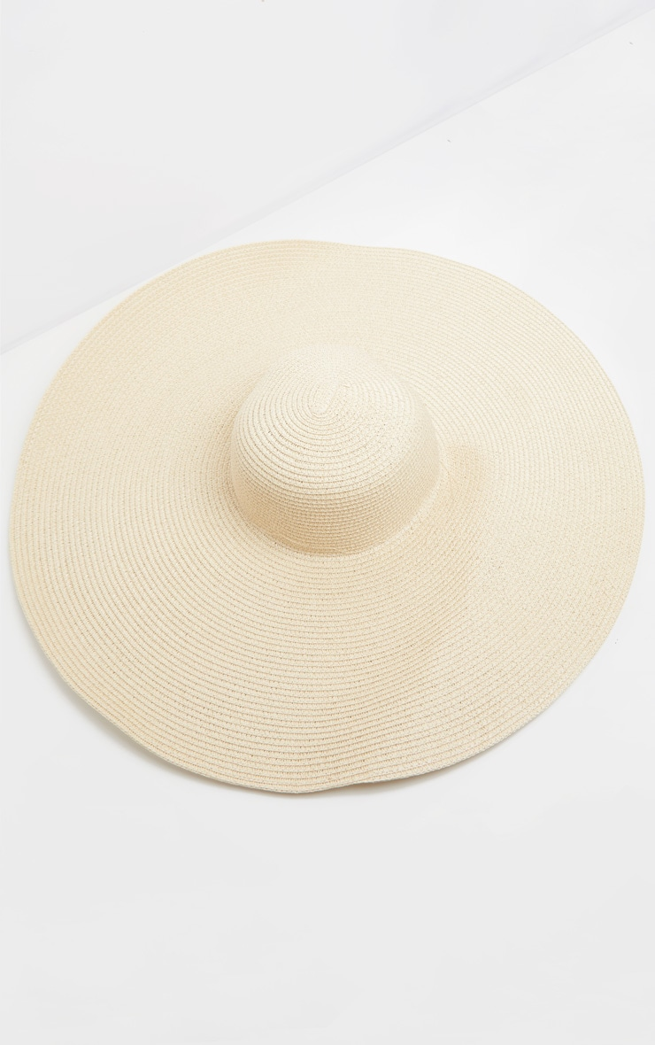Cream Extra Large Oversized Sun Hat 3