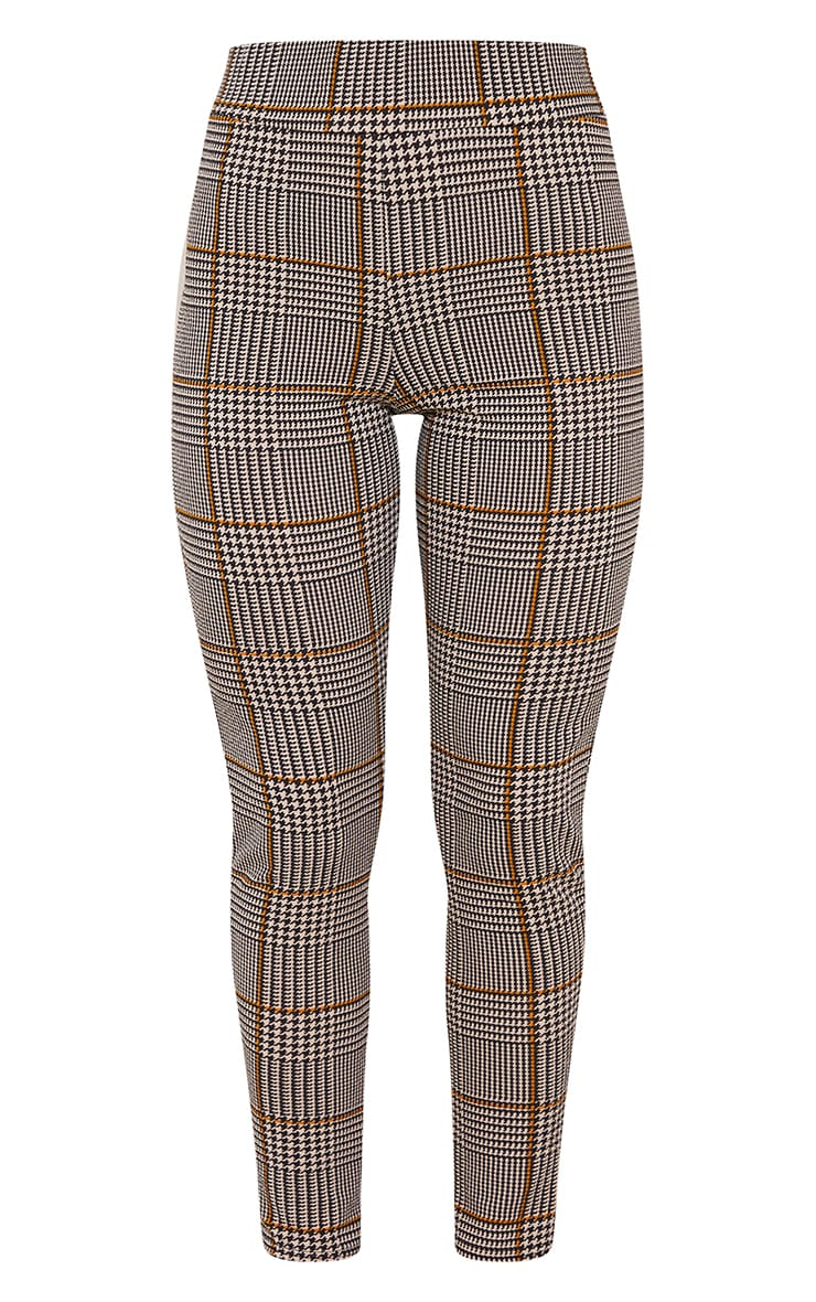Brown Dog Tooth Check Skinny Trousers 5