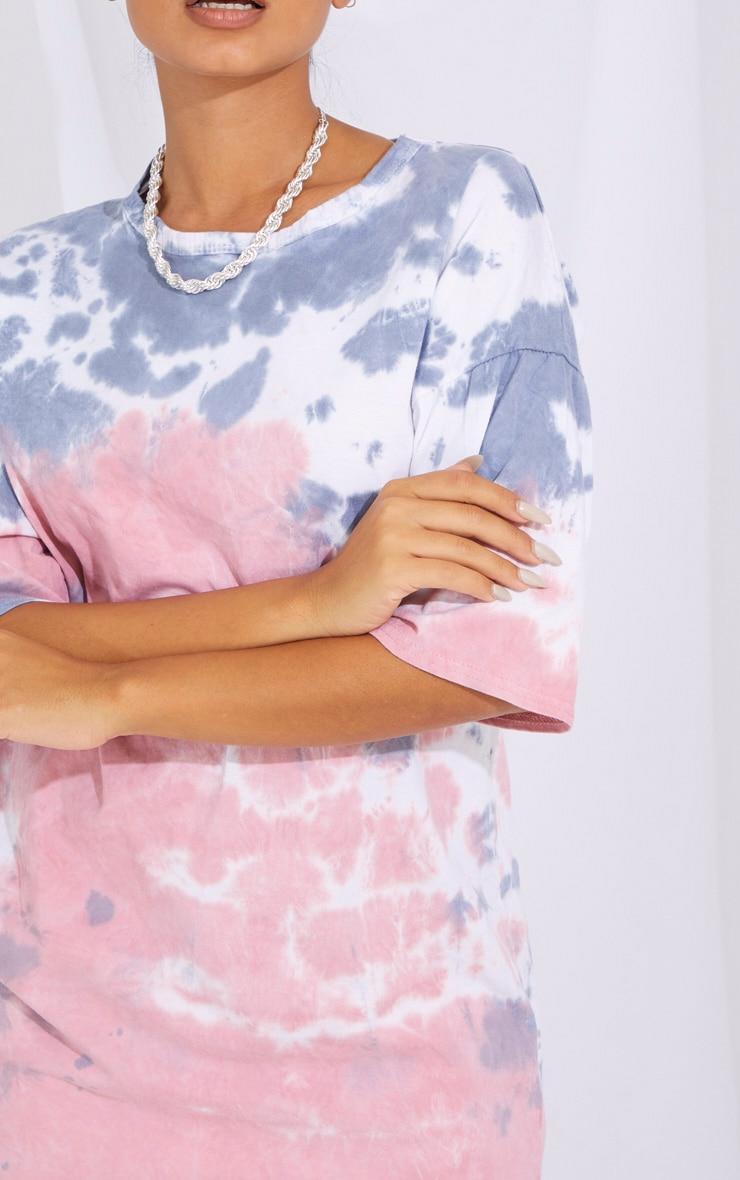 Petite Nude Tie Dye T Shirt Boyfriend Dress 4