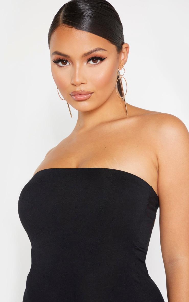 Petite Black Bandeau Jersey Midi Dress 5