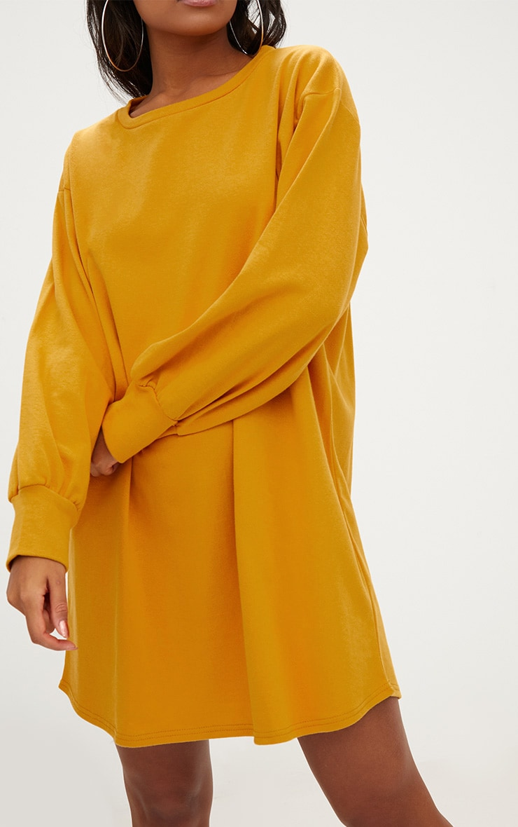 Mustard Oversized Sweater Dress 5