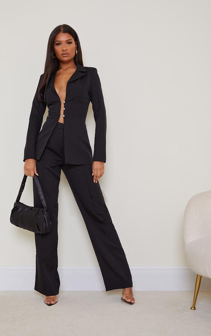 Black Wide Leg High Waist Pants 1