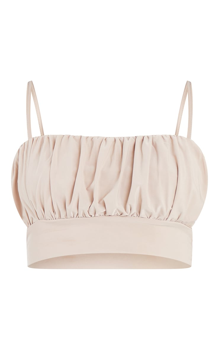 Sand Slinky Ruched Bust Crop Top 5