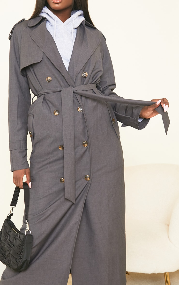 Tall Grey Oversized Trench 4