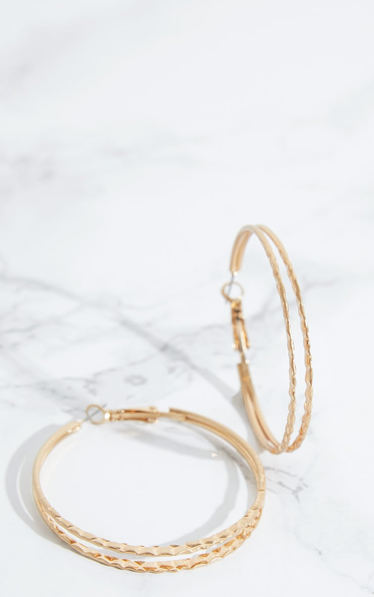 Gold Double Layer Hoops 4