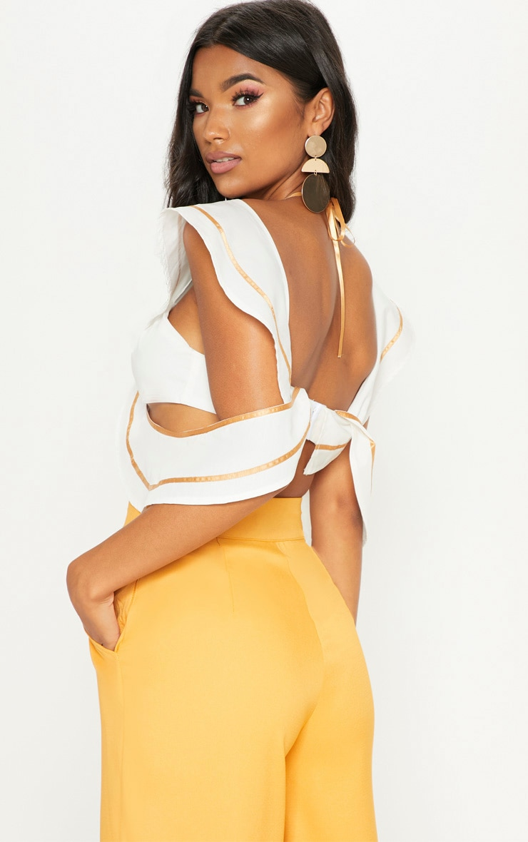 White Frill Bralet With Binding 2