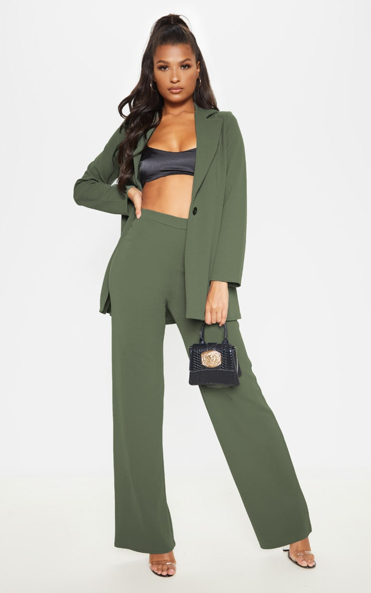Sage Khaki Wide Leg Pants  1