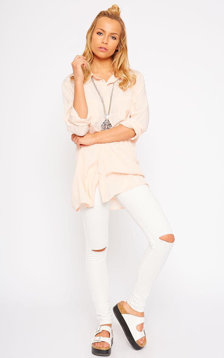 Effie Pink Longline Shirt 3