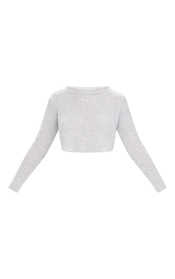 Grey Boucle Knit Jumper 3