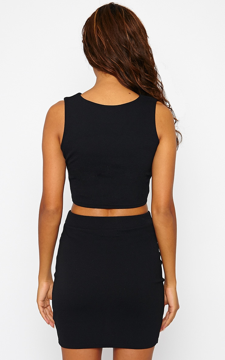 Gabriella Black V Front Crop Top 2