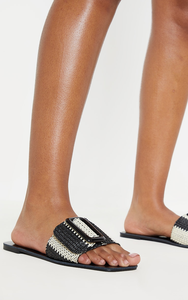 Mono Stripe Buckle Mule Sandal image 2