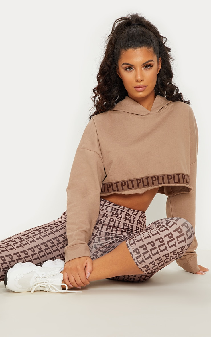 PLT Stone Band Cropped Hoodie 2