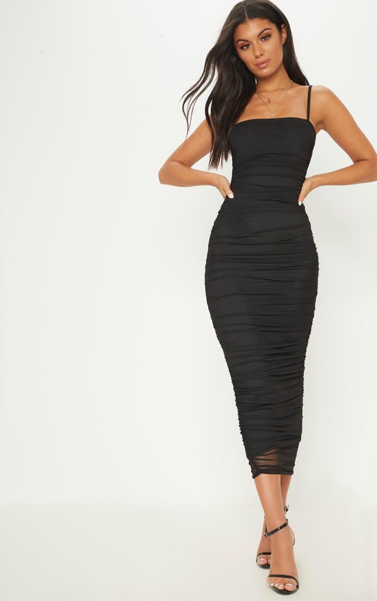 Nightgown Halter Sheer Mini Dress