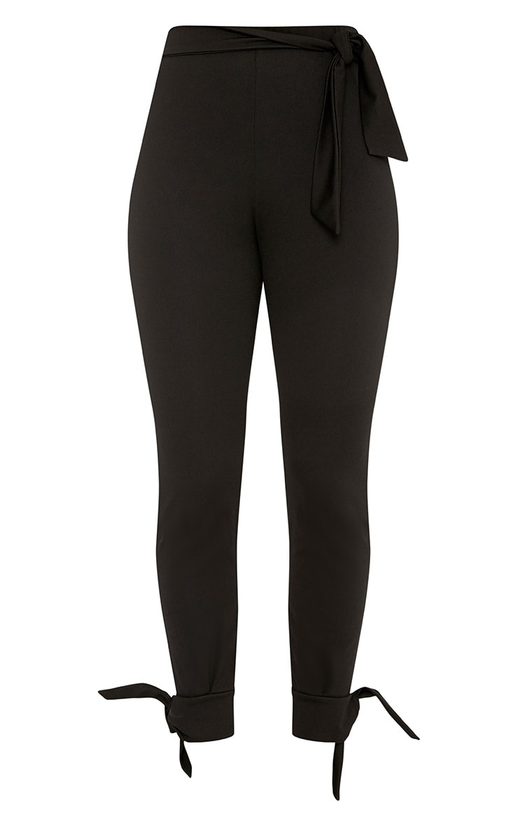 Detta Black Tie Detail Fitted Trousers  3