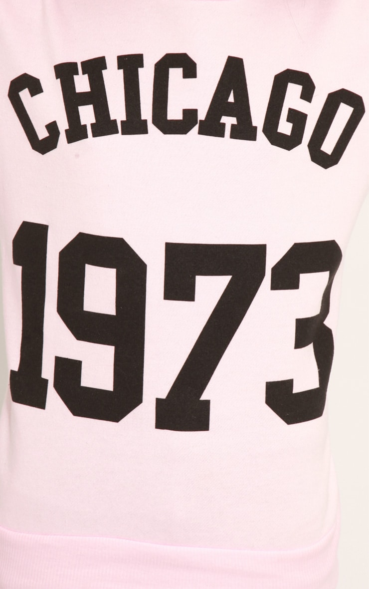 Riley Pink Chicago 1973 Sweater 5
