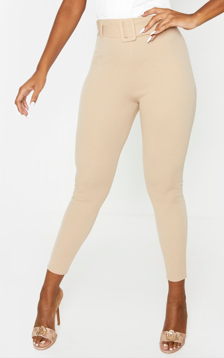 Stone Belted Skinny Pants 2